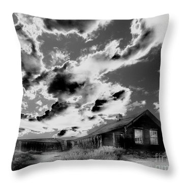 Throw Pillow featuring the photograph Ghost House by Jim and Emily Bush