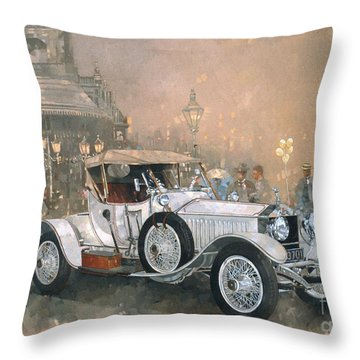 Ghost In Scarborough  Throw Pillow