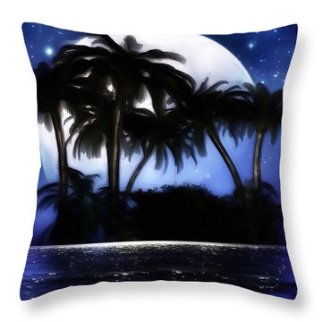 Shadow Island Throw Pillow