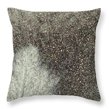 Ghost Leaf Throw Pillow