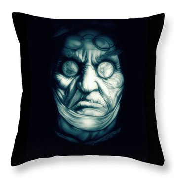 Ghost Marley Throw Pillow by Fred Larucci