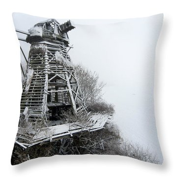 Ghost Mill Throw Pillow by Robert Lacy
