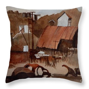 Ghost Mine Throw Pillow