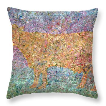Ghost Of A Cow Throw Pillow by James W Johnson