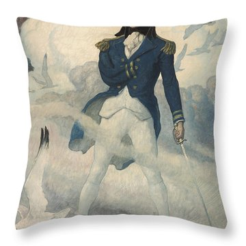 Ghost Of Admiral Nelson Throw Pillow