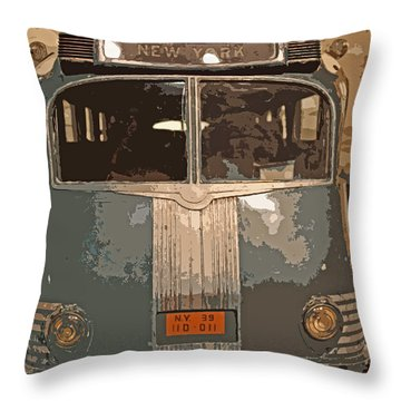 Ghost Of New York Throw Pillow