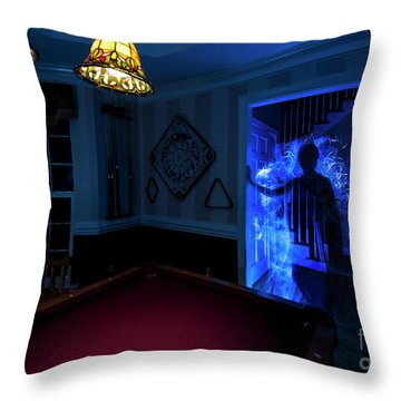 Ghost Of The Parlor Throw Pillow