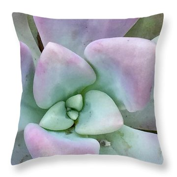 Ghost Plant Throw Pillow by Russell Keating
