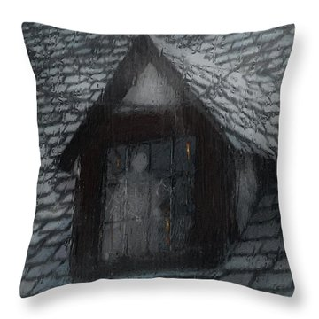 Ghost Rain Throw Pillow by RC deWinter