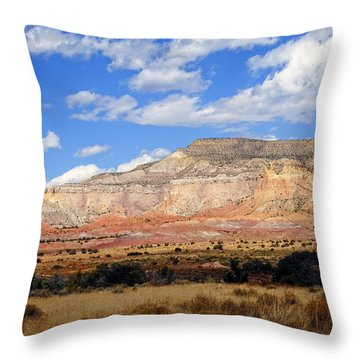 Throw Pillow featuring the photograph Ghost Ranch New Mexico by Kurt Van Wagner