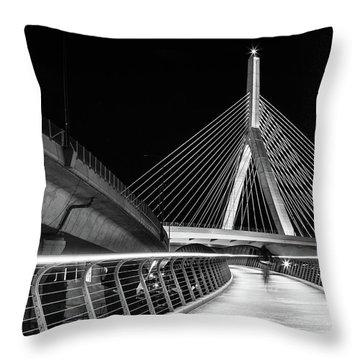 Ghost Rider At Zakim Bridge Throw Pillow