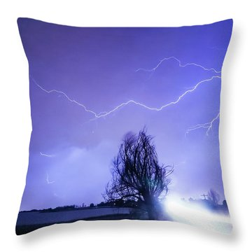 Throw Pillow featuring the photograph Ghost Rider by James BO Insogna