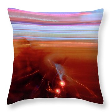 Ghost Rider Throw Pillow by Venetta Archer