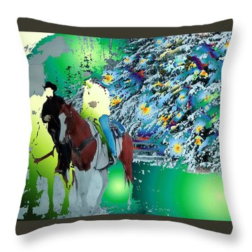 Ghost Riders Throw Pillow