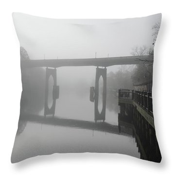 Ghost River Throw Pillow by Gordon Mooneyhan