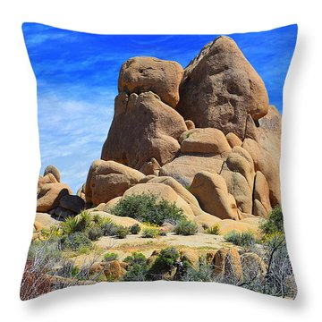 Throw Pillow featuring the photograph Ghost Rock - Joshua Tree National Park by Glenn McCarthy Art and Photography