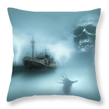 Ghost Ship 0002 Throw Pillow