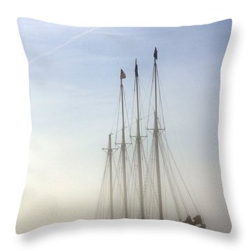 Throw Pillow featuring the photograph Ghost Ship by Greg DeBeck