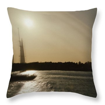 Ghost Ship Throw Pillow