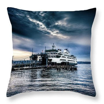 Ghost Ship Throw Pillow by Spencer McDonald