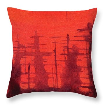 Ghost Ships Throw Pillow