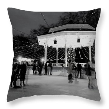 Ghost Skaters Throw Pillow