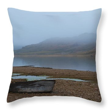 Ghost Tales... Throw Pillow by Nina Stavlund