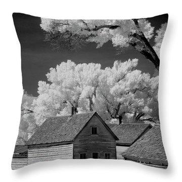 Ghost Town Bannack, Mt  Throw Pillow