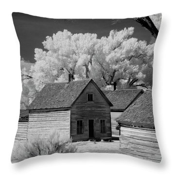 Ghost Town Bannack, Mt  Throw Pillow
