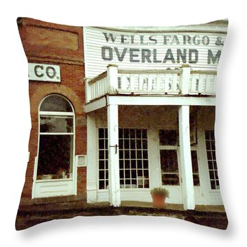 Throw Pillow featuring the digital art Ghost Town by Gary Baird