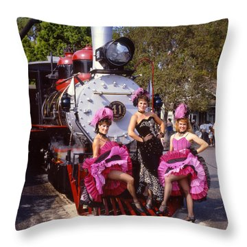 Ghost Town Girls Throw Pillow