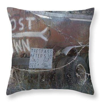 Ghost Town Tanker Throw Pillow