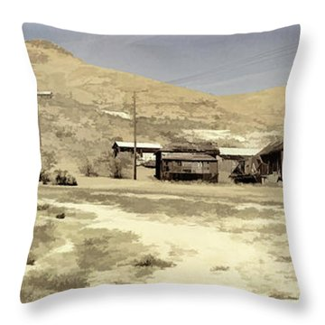 Ghost Town Textured Throw Pillow