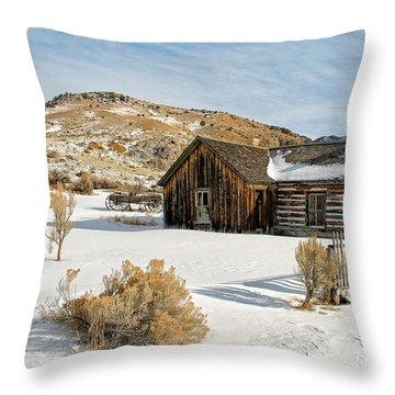 Ghost Town Winter Throw Pillow