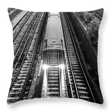Ghost Train Vienna Throw Pillow