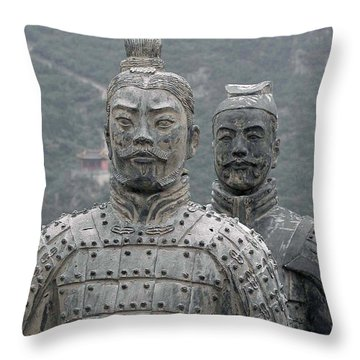 Ghost Warriors Throw Pillow