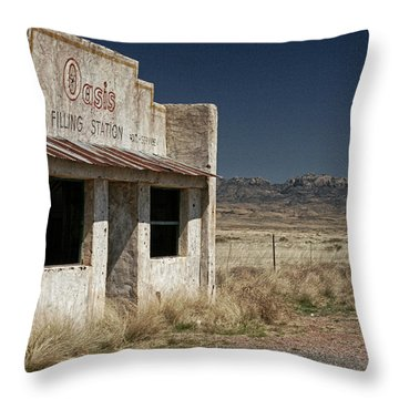 Ghost Way Station Oasis Throw Pillow