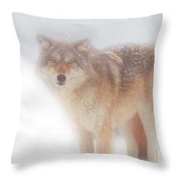 Ghost Wolf Throw Pillow