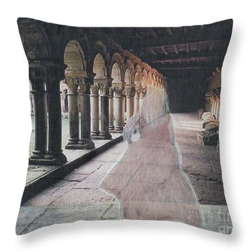 Throw Pillow featuring the mixed media Ghostly Adventures by Desiree Paquette