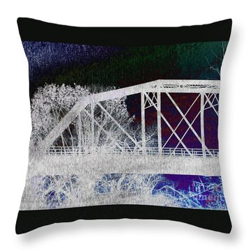 Ghostly Bridge Throw Pillow