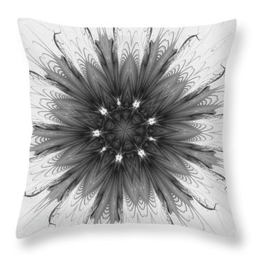 Ghostly Glow Fractal Throw Pillow