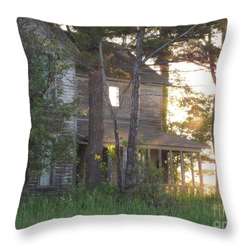 Ghostly Light Throw Pillow