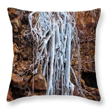 Ghostly Roots Throw Pillow by Christopher Holmes