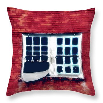Ghostly Window Throw Pillow