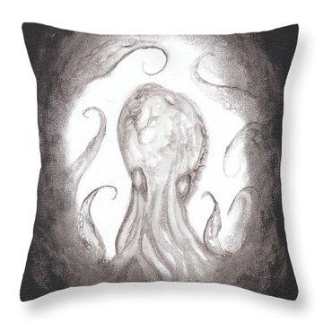 Ghostopus Throw Pillow