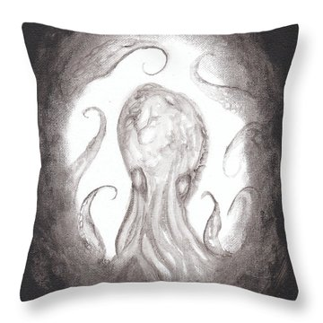 Ghostopus Throw Pillow