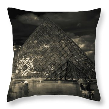Ghosts Of The Louvre Throw Pillow