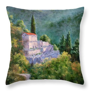 Ghosts Of The Peloponnese Throw Pillow by Jill Musser