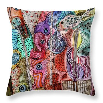 Throw Pillow featuring the mixed media Ghostship by Mimulux patricia no No