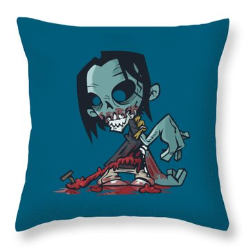 Ghoul T-shirt Throw Pillow by Herb Strobino